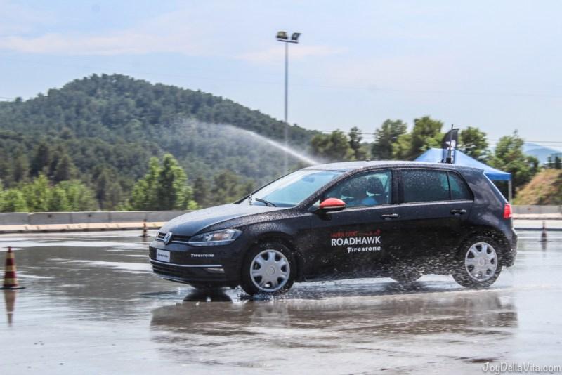 Doing laps of tire testing at Parcmotor Castelloli - Firestone Roadhawk Tire Barcelona Travel blog JoyDellaVita
