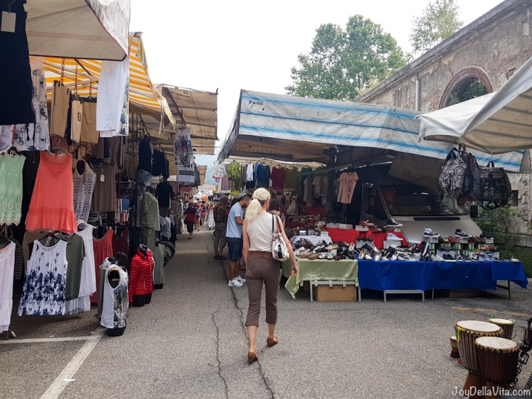 Day Trip to the famous market in Luino, Lake Maggiore in Italy