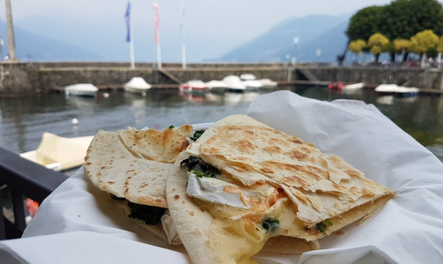Piadina at Caffé Clerici in Luino at Lake Maggiore