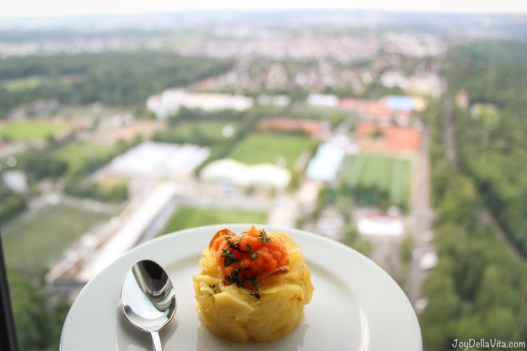 eating in the Sky, on top of Stuttgart TV Tower -- TV Tower Stuttgart Fernsehturm Travelblog JoyDellaVita.com