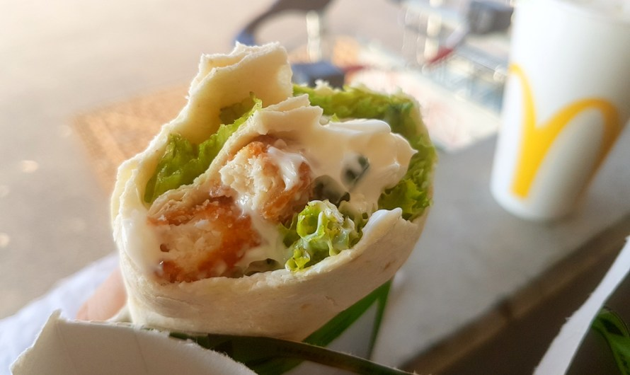 Vegetarian McWrap with Valess Schnitzel by McDonald's Austria