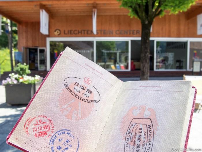 Liechtenstein Stamp Passport Vaduz Travelblog JoyDellaVita