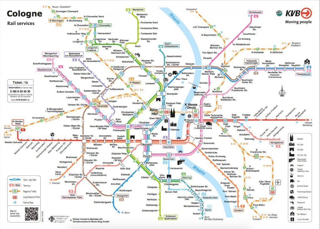 Cologne railway network public transport - joy della vita travel blog