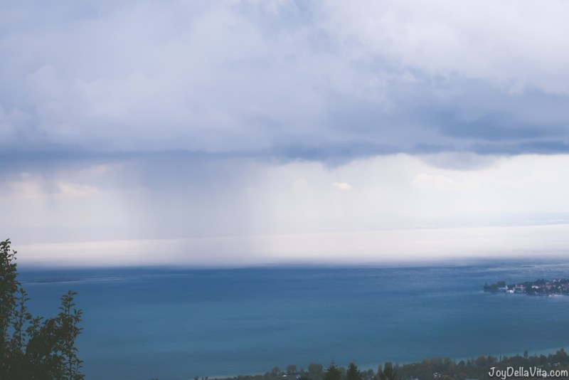 Rain over Lake Constance