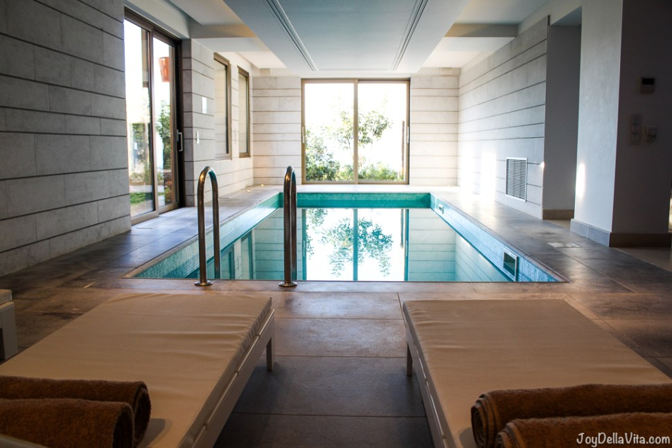 indoor pool daios cove the mansion luxury villa resort crete greece travelbl