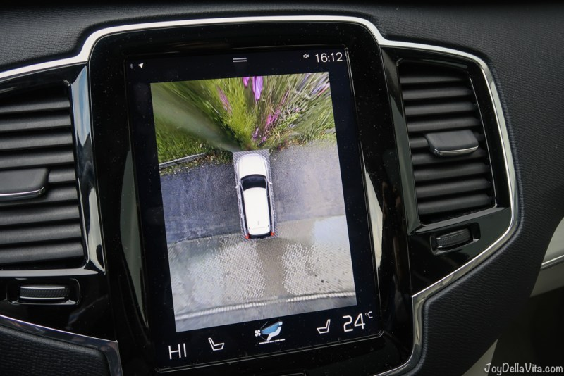 360 degree camera - loved that feature! volvo xc90 alpine adventure travel blog joydellavita