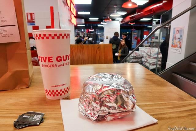 Burger and Soda at Five Guys Five Guys Paris Travel Blog JoyDellaVita