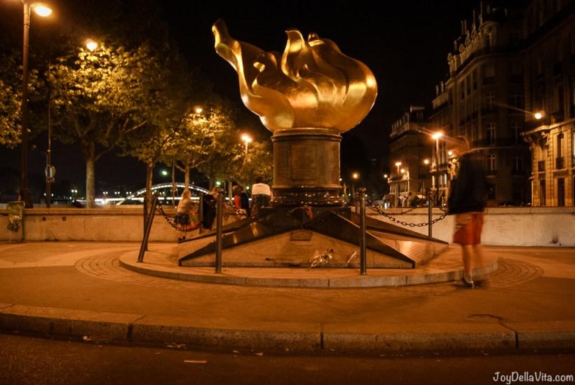 Flame of Liberty Lady Diana Memorial Paris Pont de l Alma joyDellaVita