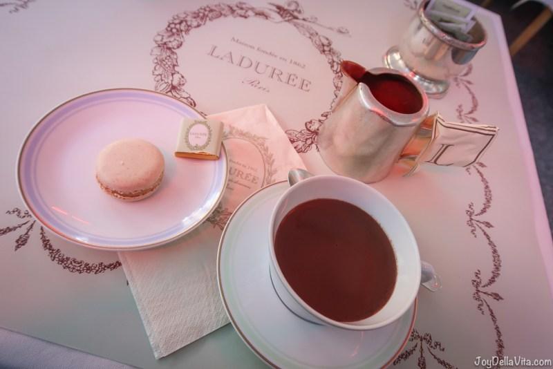 Hot Chocolate Laduree Champs Elysees Paris Travel Blog JoyDellaVita