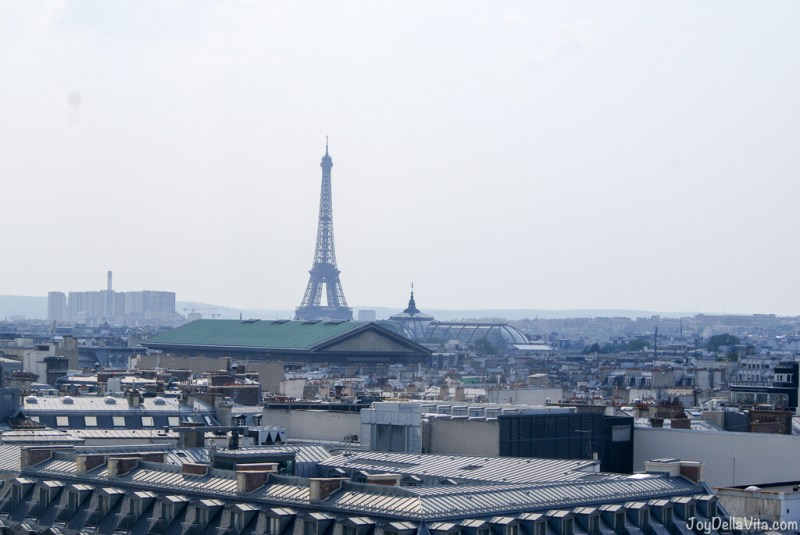 the iconic eiffel tower! Panorama Terrace Galeries Lafayette Paris 7th floor Travel Blog JoyDellaVita