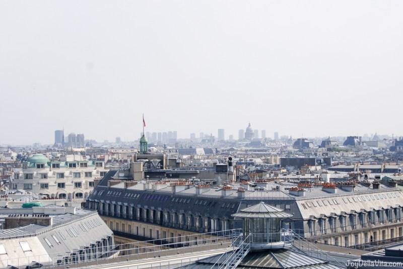 Panorama Terrace Galeries Lafayette Paris 7th floor Travel Blog JoyDellaVita