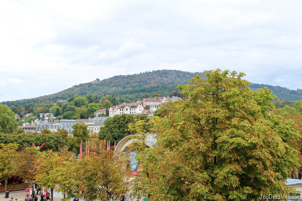 Baden-Baden view from Salon JB Messmer Restaurant