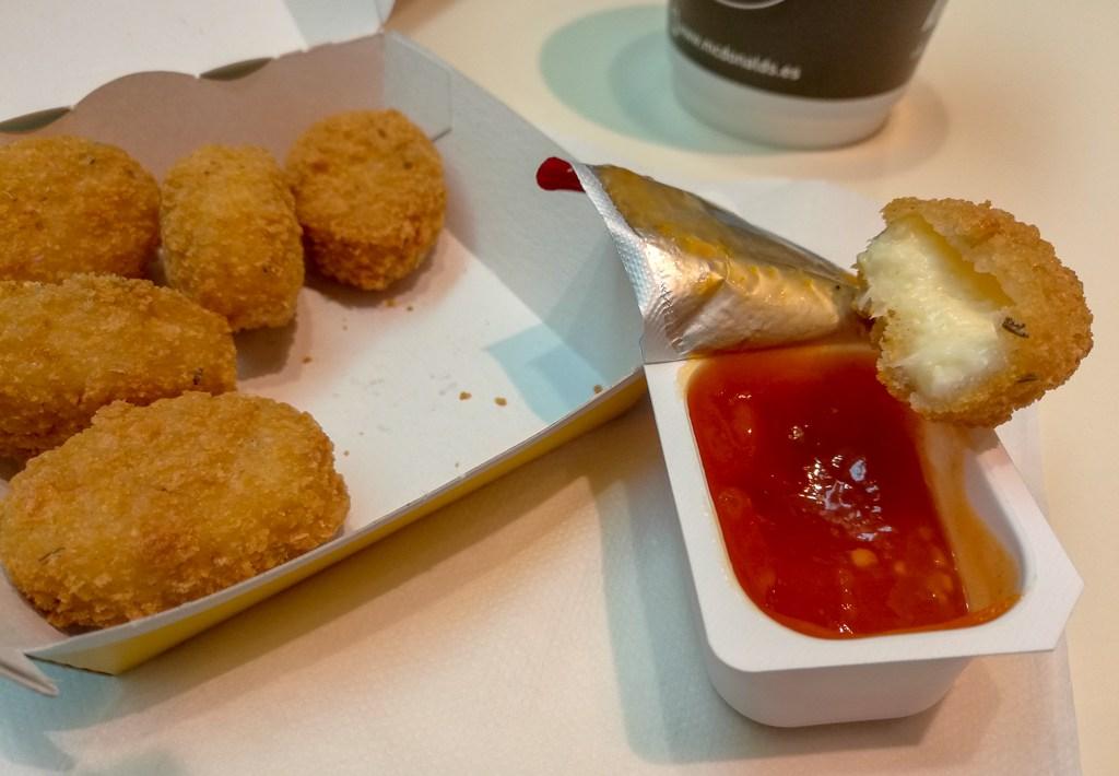 Cheesy Bites Vegetarian Nuggets McDonald's Spain Sweet Tomato Dip Joy Della Vita Travel Blog