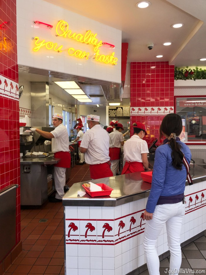 At In-N-Out Burger Los Angeles Cahuenga Blvd