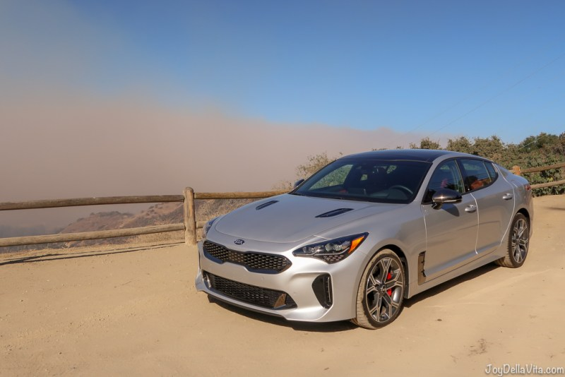 Kia Stinger GT on Mulholland Drive, Los Angeles