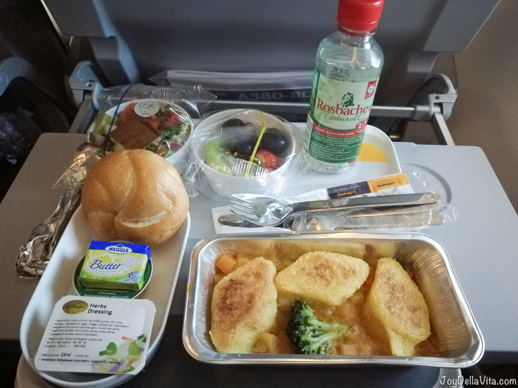 Lufthansa Pre-Ordered Meal A380 Economy Class Vegetarian Ovo-Lacto