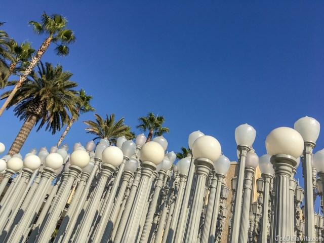 Urban Light LACMA Los Angeles Wilshire Blvd Travel Blog Joy Della Vita