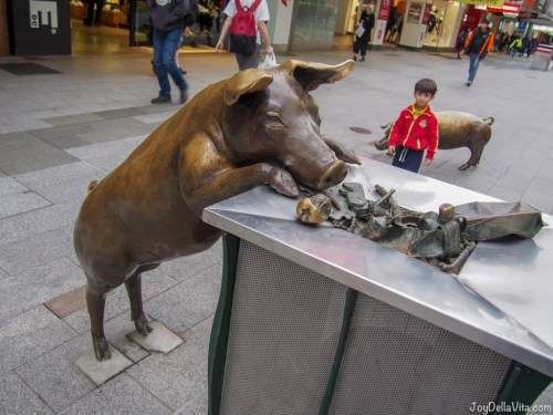 A Day Out Adelaide Rundle Mall Pigs