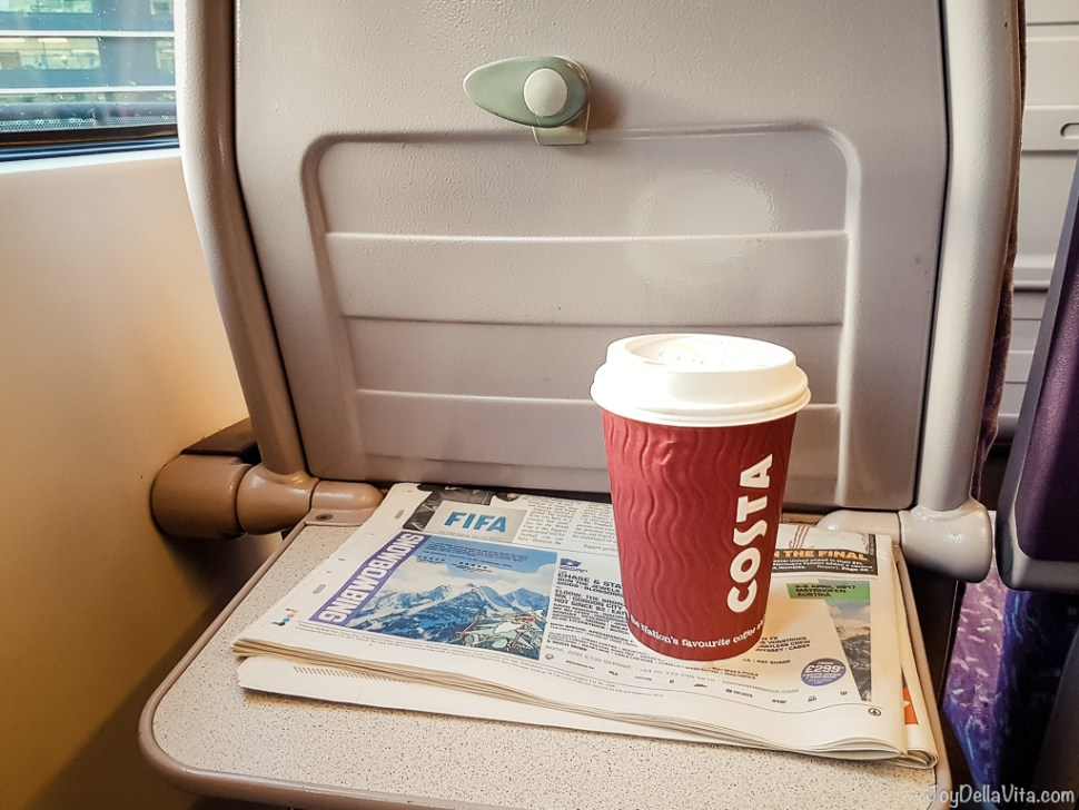 2nd Class in the Northern Line Train from Manchester to Liverpool