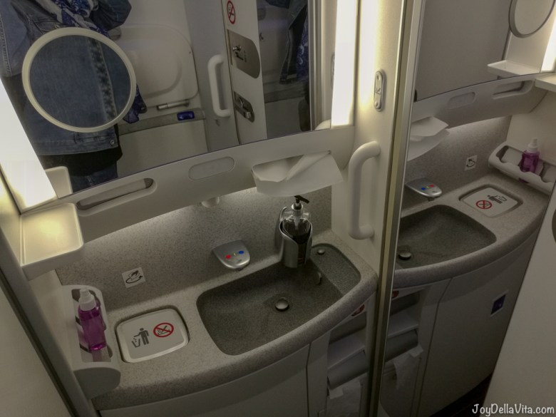 Qatar Airways Boeing 787 Dreamliner Economy Class Bathroom