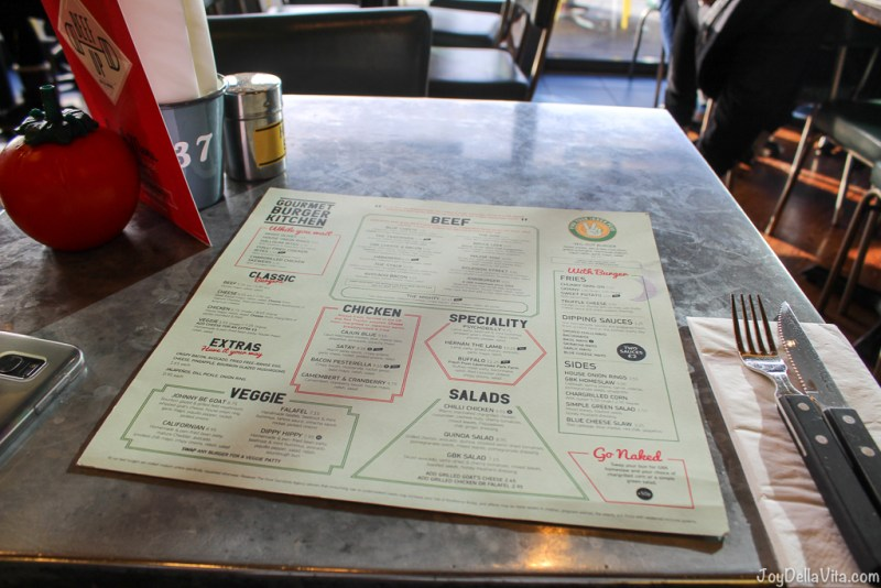 GBK Menu Gourmet Burger Kitchen Liverpool
