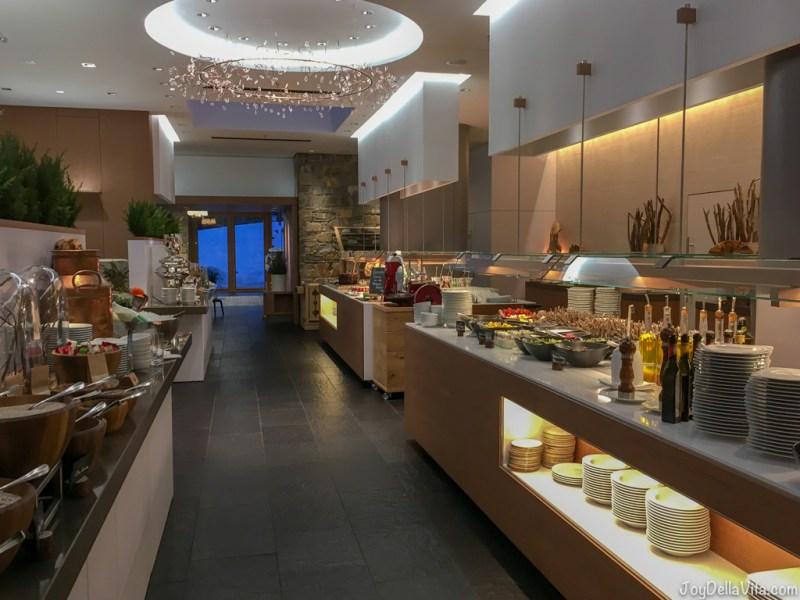 Kempinski Berchtesgaden Breakfast Buffet on the ground floorat the Restaurant Johann Grill