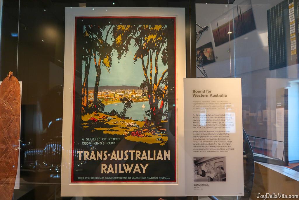 Trans-Australian Railway Poster National Museum of Australia Canberra