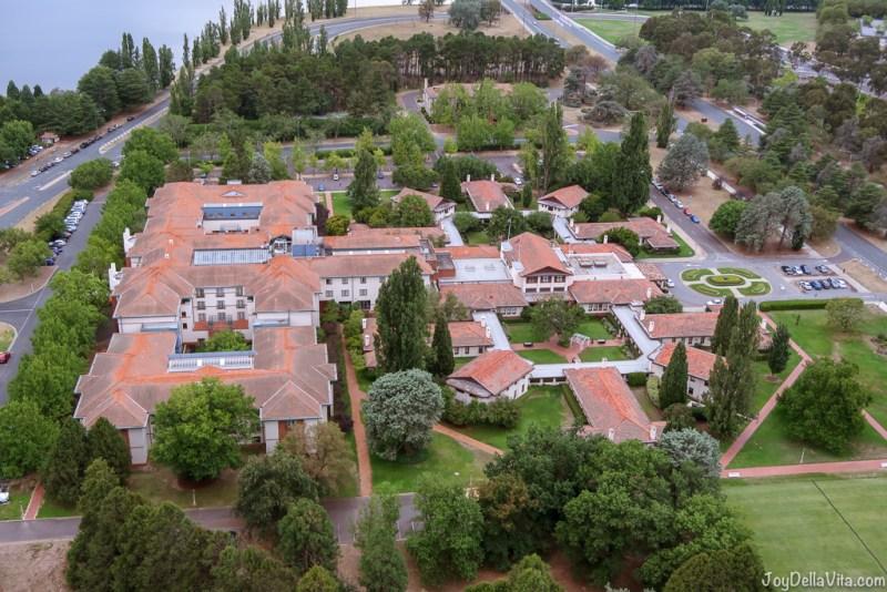 Park HYATT Hotel Canberra as seen from above