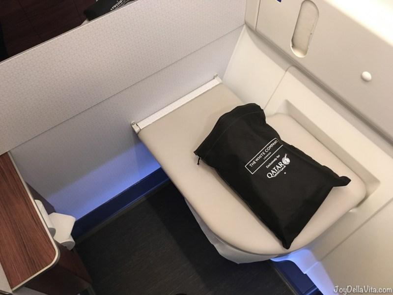 spacious Qatar Airways QSuite Business Class Bathroom