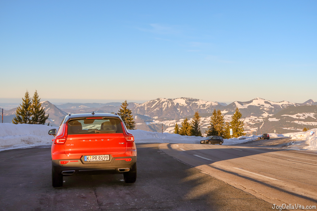 plenty of parking at Rossfeld Panoramastrasse Berchtesgaden