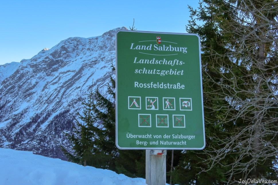 Austria immediately borders to Rossfeld Panoramastrasse, with Salzburg very close
