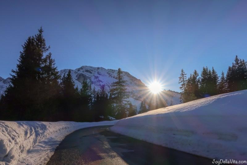 Rossfeld Panoramastrasse Berchtesgaden Winter