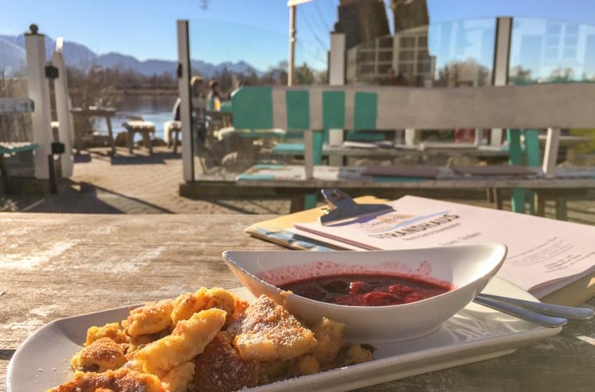 Biergarten Restaurant Seewirts Strandhaus at Lake Chiemsee in Bavaria