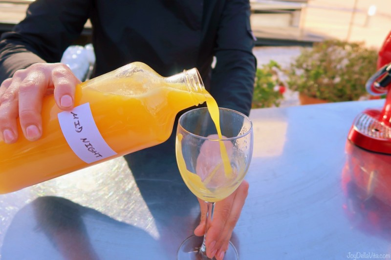 Tasting Mid Night Orange Juice in Burriana near Valencia