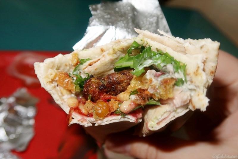 LEON Heathrow Vegan Falafel Wrap
