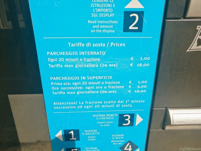 Prices of Parking in Verona