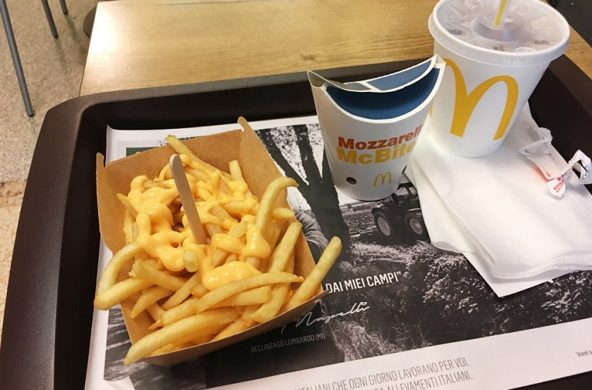 Current Vegetarian Food Options at McDonalds Italy