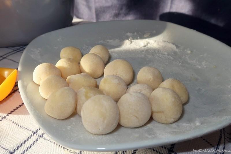 fresh potato gnocchi, ready to be boiled