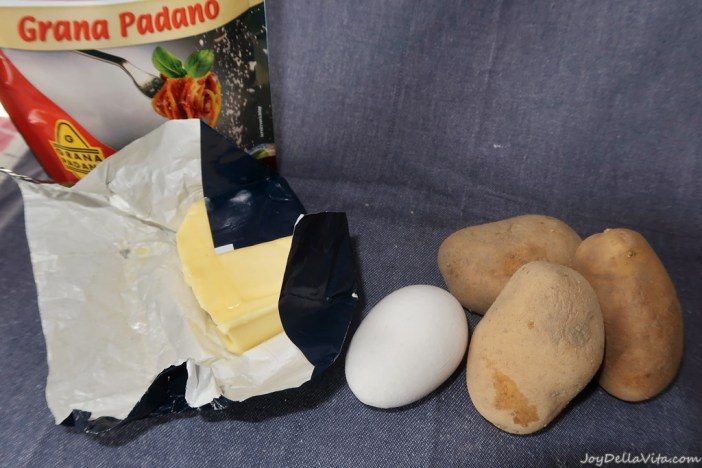 Ingredients for Gnocchi di Verona with brown butter and parmesan