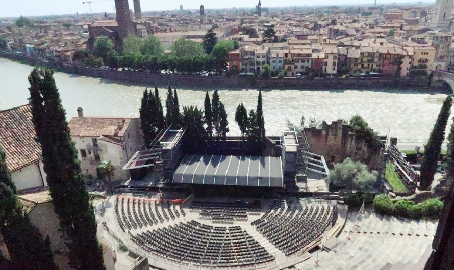 Teatro Romano di Verona, the more than 2000-year-old ancient theatre right by the river