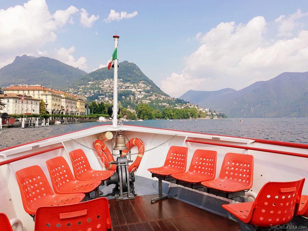 Boat Lake Lugano Experience Travel Blog Review Lugano Centrale lago Lugano Paradiso