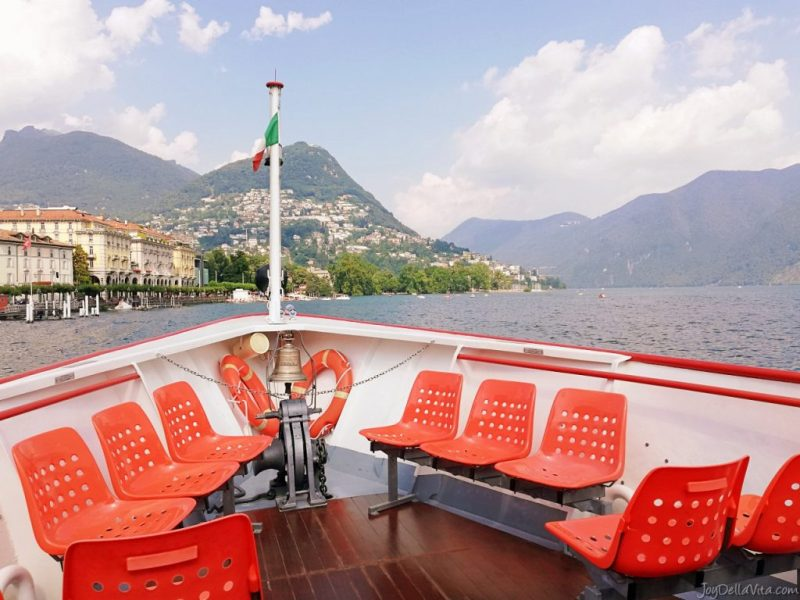 taking a boat on Lake Lugano - what a beautiful experience