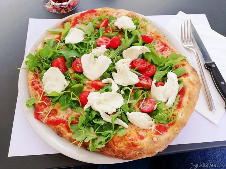 Delicious Pizza at Golfo Restaurant Lugano Paradiso near the Lake
