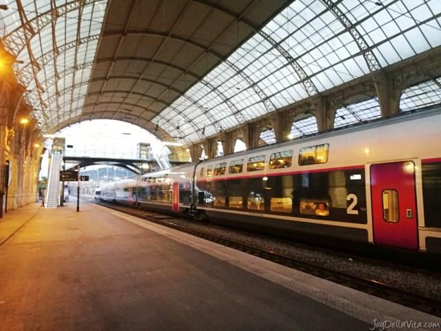 TGV in Nice Train Station
