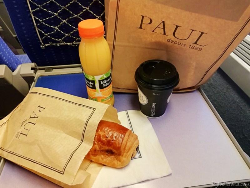 paul breakfast nice train station