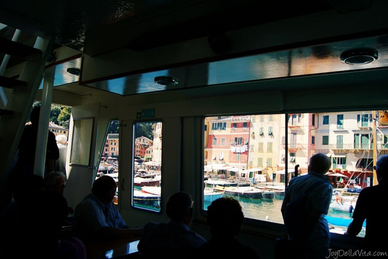 arrival by boat in Portofino