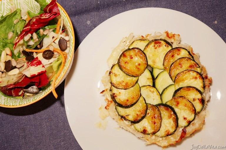 Recipe: simple savoury Tarte Tatin with zucchini and cream cheese