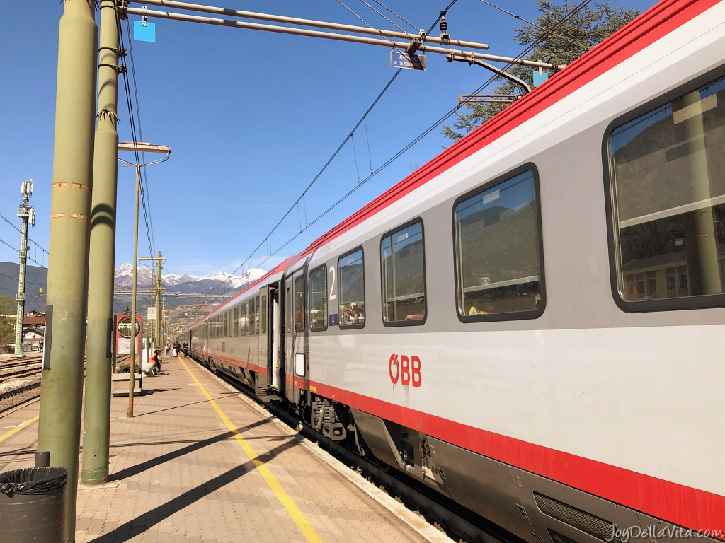 ÖBB EuroCity Train in Bressanone, South Tyrol