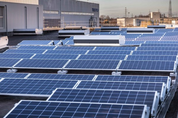 Volvo climate plan solar power