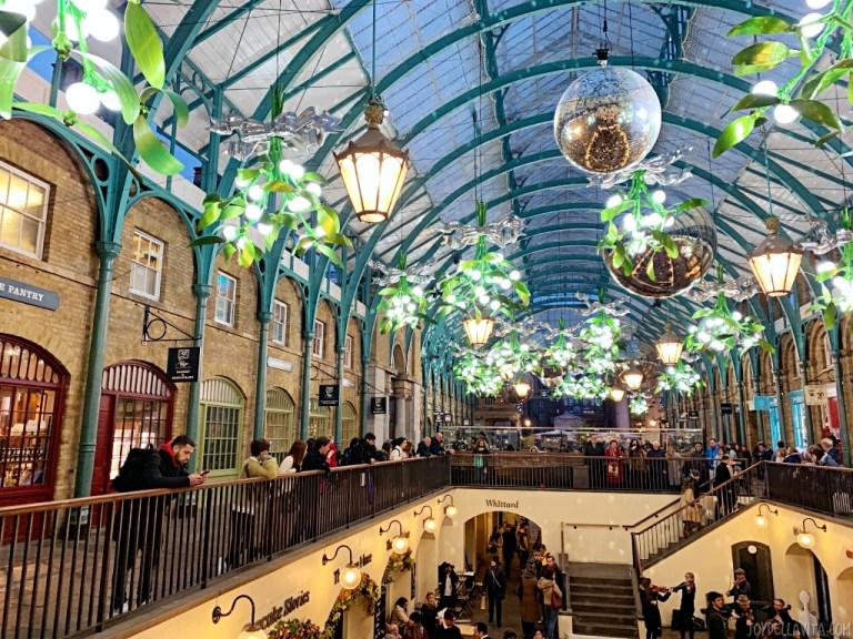 Covent Garden London winter christmas decorations 2019 / 2020